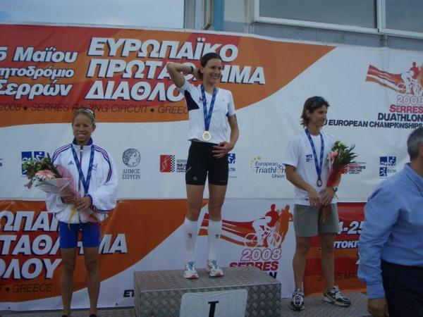 Podium Europe duathlon 2008