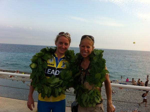 Avec Emma POULEY, à l'arrivée à Nice
