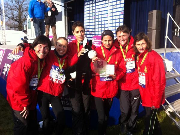 Championnes de France de cross avec mon équipe de la SCO