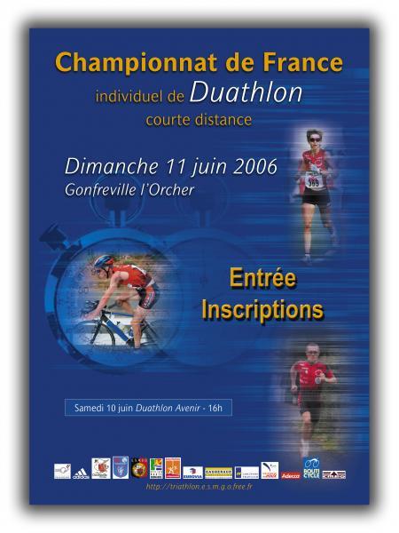 Affiche du championnat de France de duathlon 2006