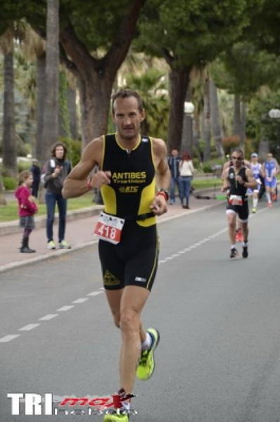 Franck LEBLANC au Triathlon International de Cannes