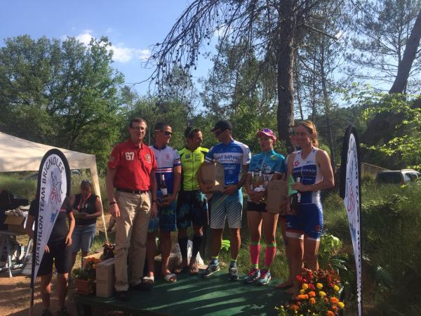 Podium Triathlon M Vins sur Caramy 2015