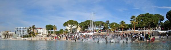 Départ Triathlon Saint-Sylvestre 2015