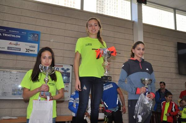 Podium Aquathlon Saint-Raphaël (Minimes Filles)