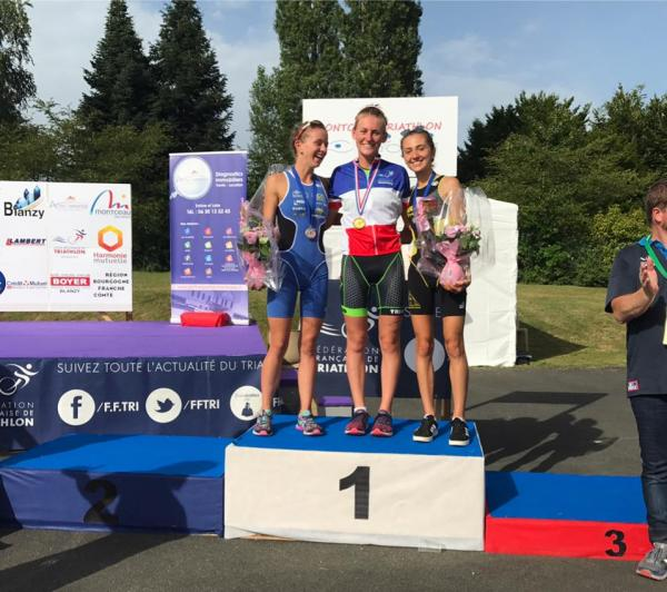 Championnats de France Aquathlon 2017 - Podium Cadettes