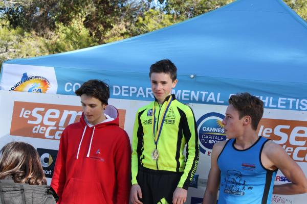 Podium Cadets Cross des Iles 2017