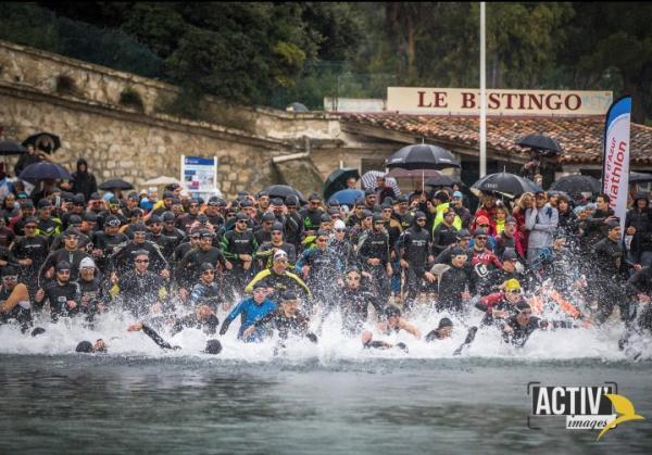 Départ Triathlon Saint-Sylvestre2018