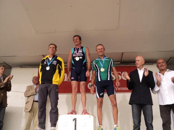 Podium France Master Triathlon 2012
