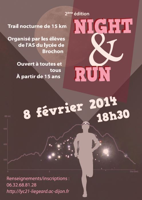 Affiche Night and run BROCHON 2014