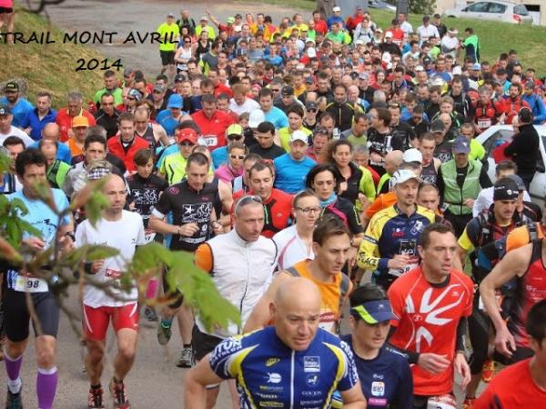 Monia et Martial au trail du Mont Avril