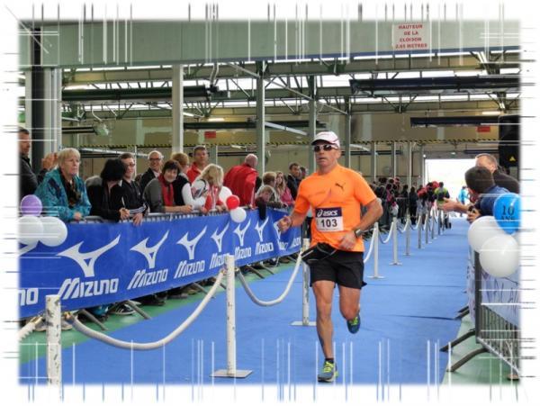 Christophe à l'arrivée du marathon