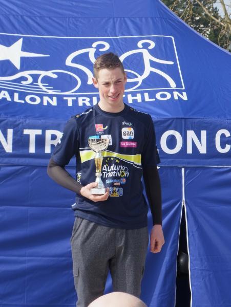 1er podium sous les couleurs d'AUTUN TRI de Clément