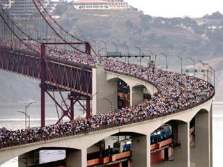 départ semi marathon de Lisbonne