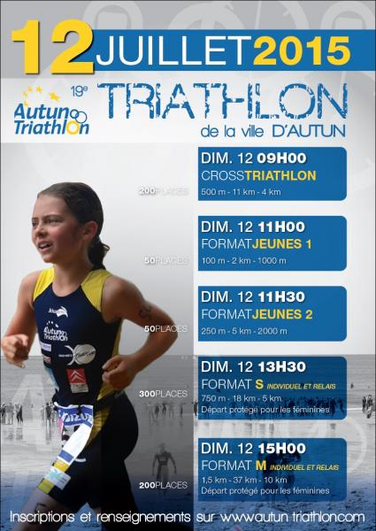 Affiche AUTUN TRIATHLON 2015