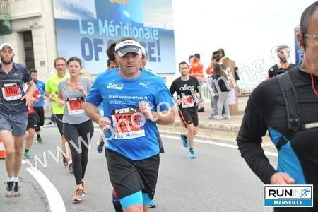 Bruno sur le semi-marathon à MARSEILLE