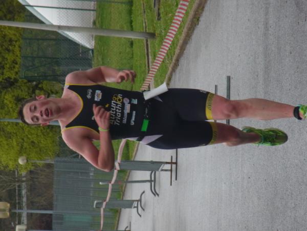 Clément à l'aquathlon d'Oyonnax