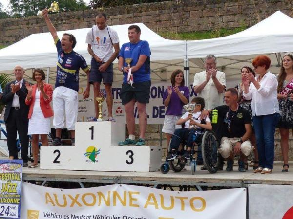 William sur le podium
