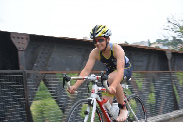 Etienne sur la fin du parcours vélo avec la banane !!