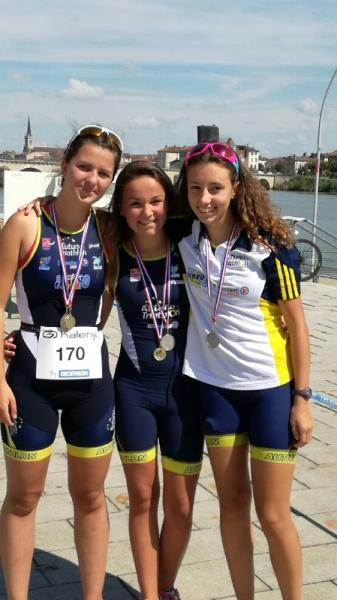 Le podium fille course J2 !!!!