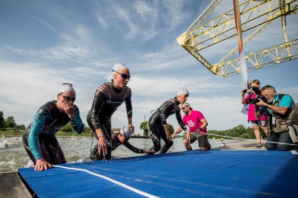 la natation du relais mixte