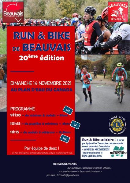 affiche run and bike 2021