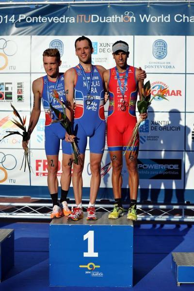 podium mondiaux duathlon 2014
