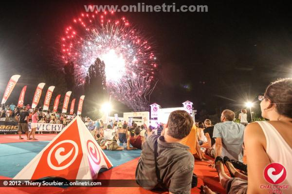 Feux d'artifice au triathlon de Vichy