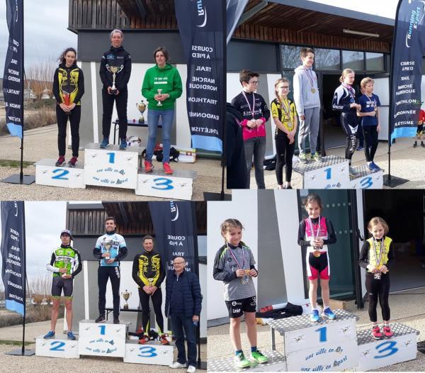 2019 Cross Duathlon Virlay podiums