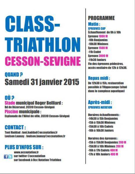 Ligue de bretagne class triathlon a cesson sevigne 35 - Piscine cesson sevigne 35 ...