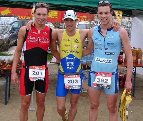 Cédric au Triathlon sprint de Saint Tropez