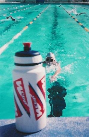 Entraînement de natation à la piscine de Toulon