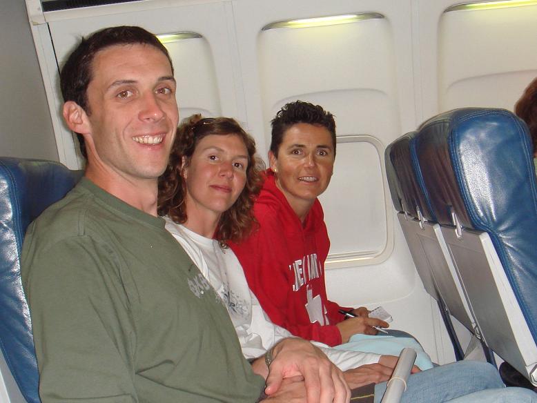 Nous 3 dans l'avion