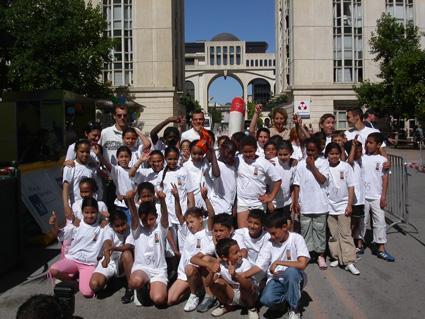 Triathlon des enfants de l'école Galilée