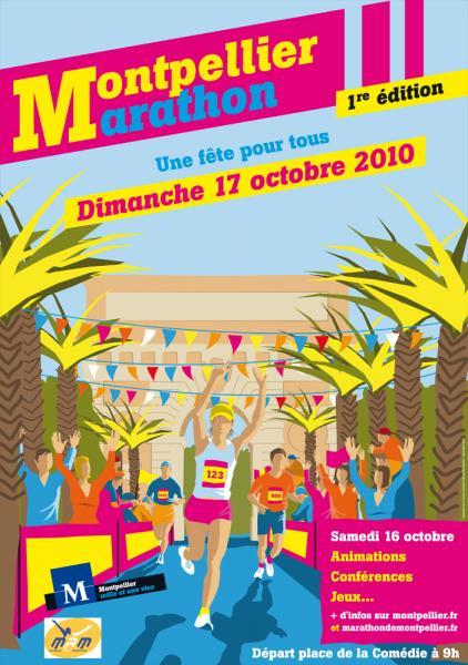 Premier marathon de Montpellier, 17 octobre 2010
