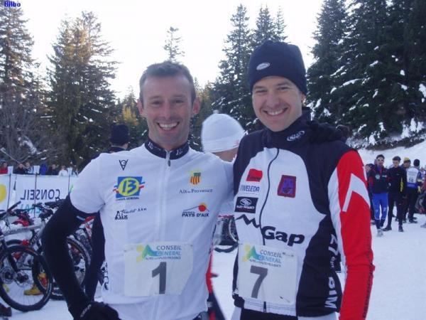 Avec Mr Borgia, champion de France de Tri des neiges 2007 & 2008