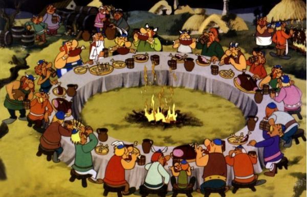 les gaulois à table