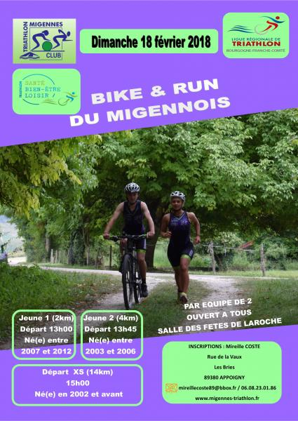 Bike and run Migennes 2018