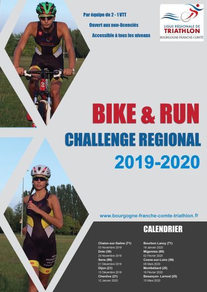 affiche ChallengeBike&Run 2020