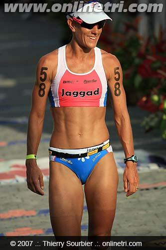 Belinda Granger - Kona '07 finish line