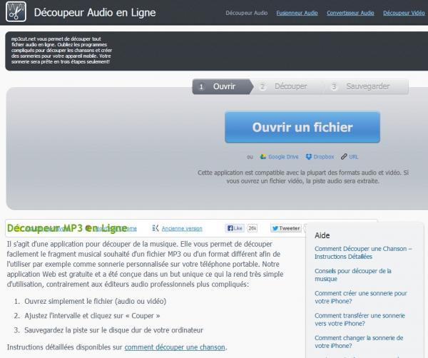 Nicolas verdes nico35 couper un mp3 en 3 clics en ligne sans logiciel - Couper morceau mp3 en ligne ...