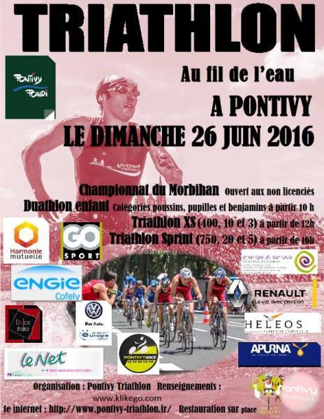 affiche 2016 triathlon