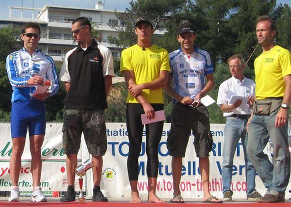 Podium de Toulon Triathlon