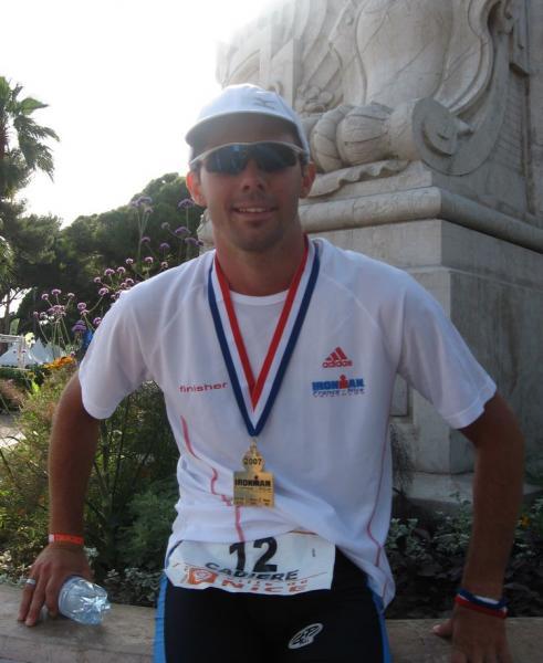 Renaud finisher de l'IM Nice 2007