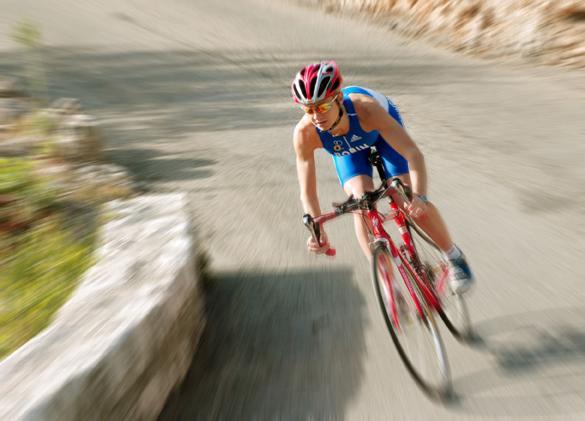 Christel descente vélo