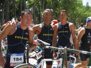 Les trois Toulonnais avant le départ