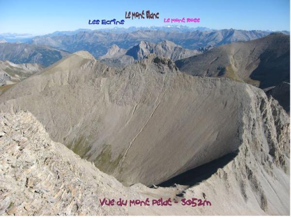 Vue du Mont Pelat côté Mont Blanc
