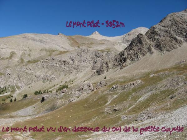 Le Mont Pelat vu d'en dessous
