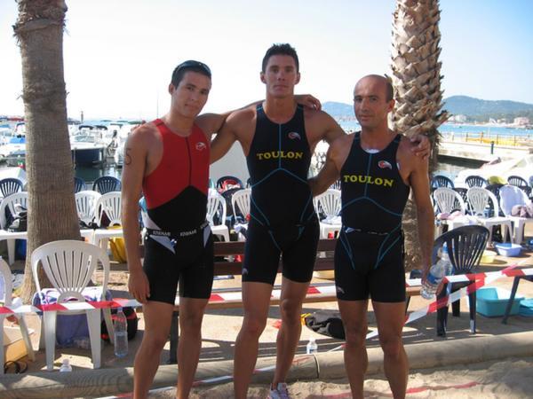 Trio gagnant du Biathlon du Lavandou