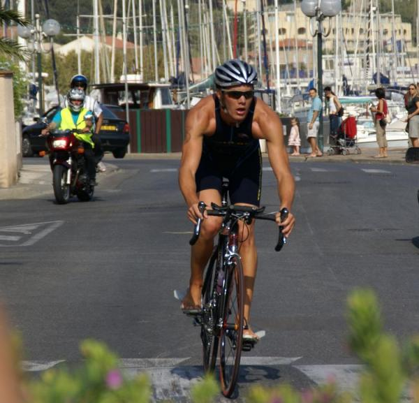 Romain arrivée vélo
