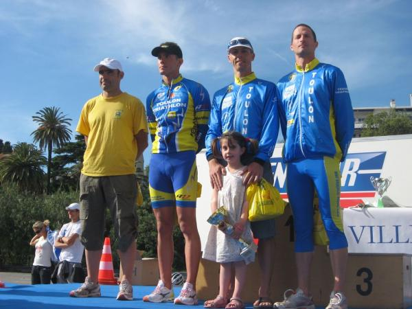 Podium triathlon de Toulon